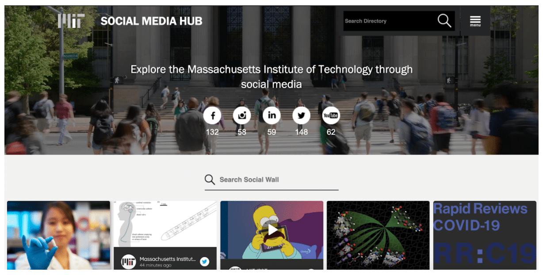 MIT Social Media Hub home page