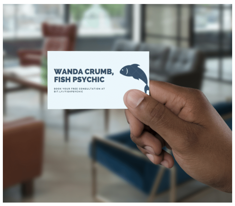 Business card using a short link generated by Bit.ly URL shortener