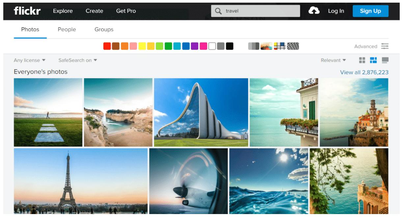 Flickr photo sharing social network
