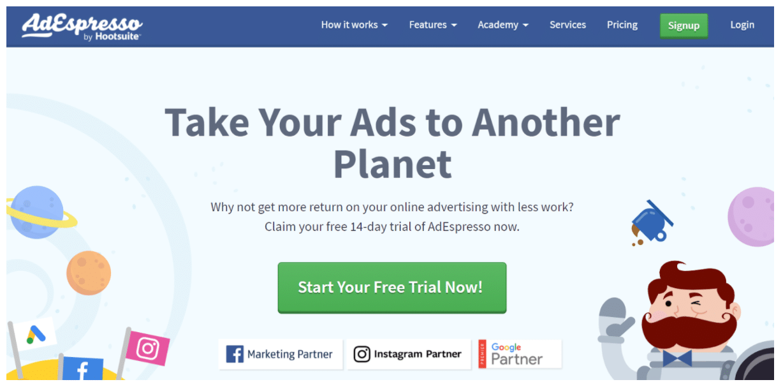 AdEspresso Facebook marketing software