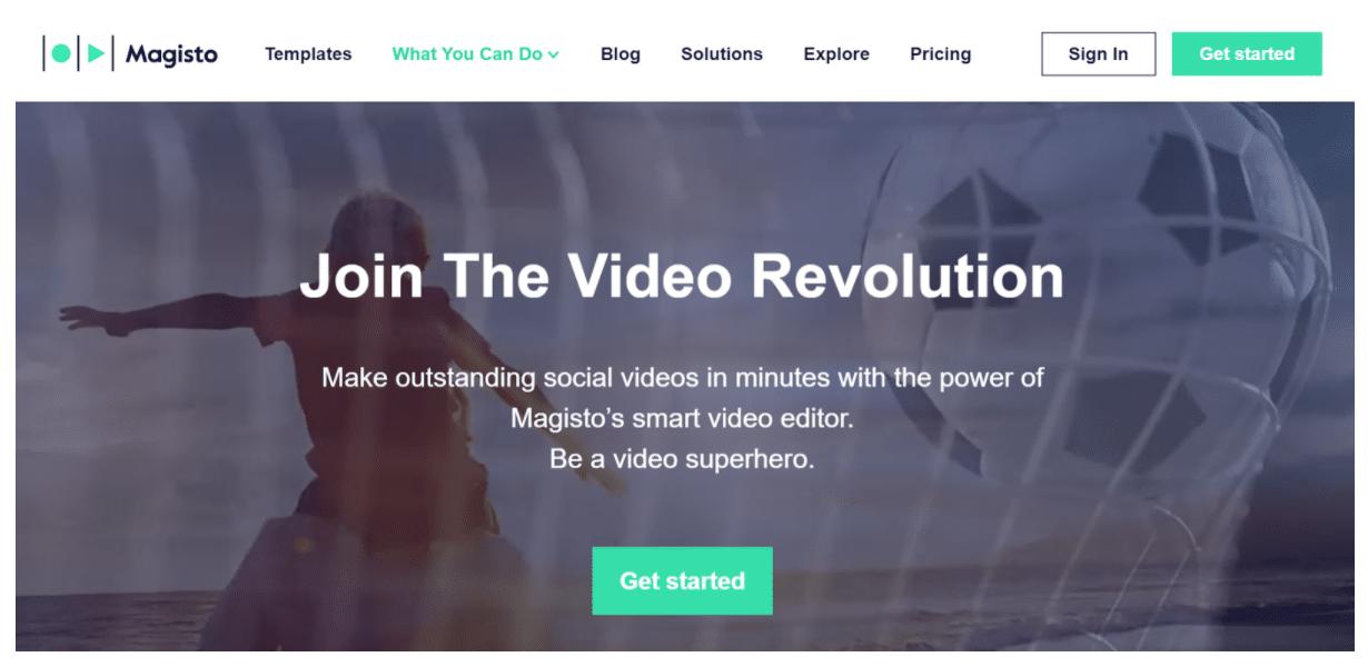 Magisto Facebook video ad creator