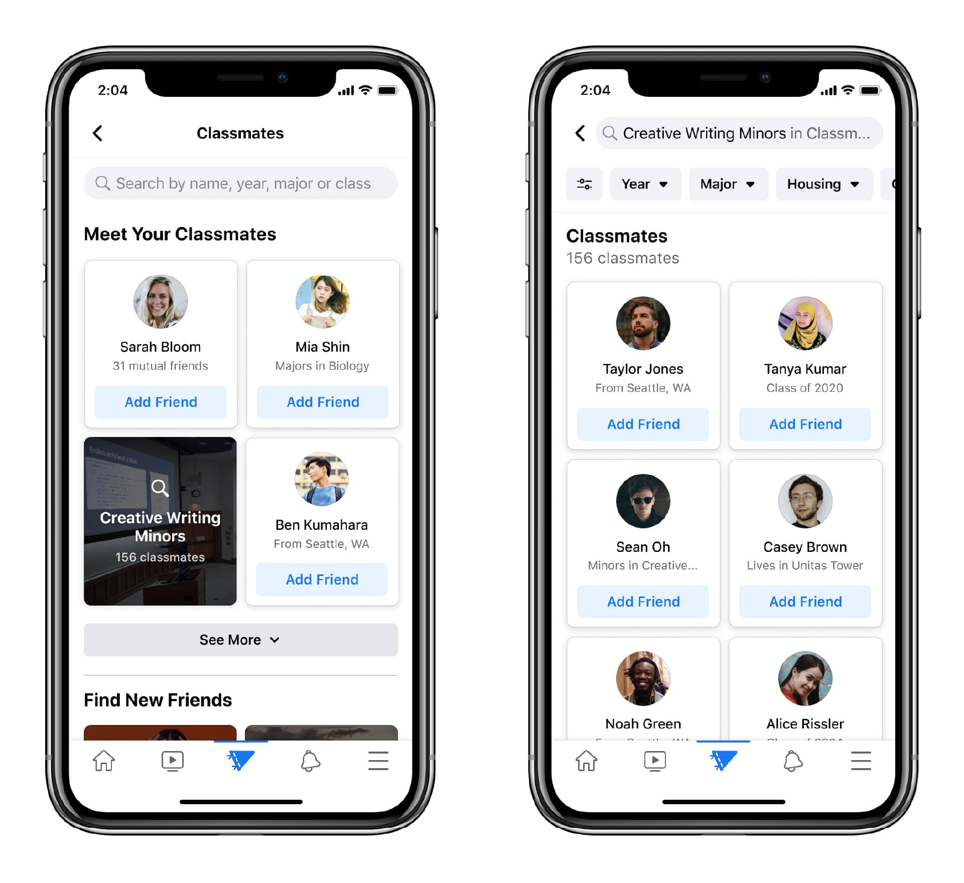 Facebook Campus digital connection for college students