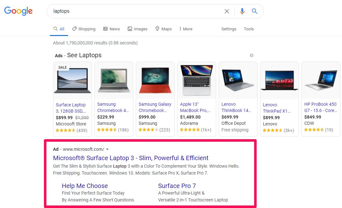 کمپین تبلیغات صفحه اول گوگل