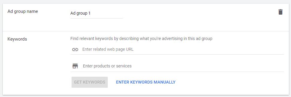 گروه تبلیغات را تنظیم کنید