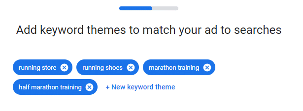 برای مطابقت آگهی با جستجوگران ، مضامین کلمات کلیدی را اضافه کنید