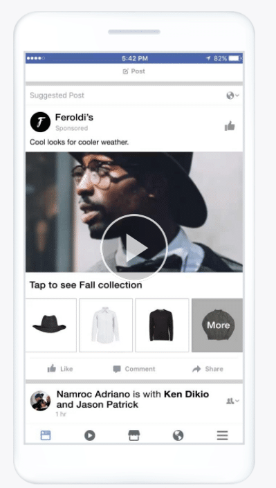 Facebook feed collection ads