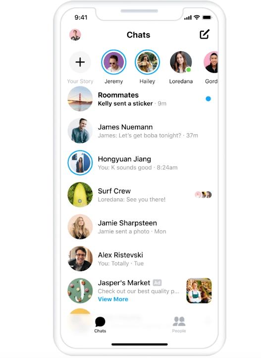 publicités sur Facebook Messenger