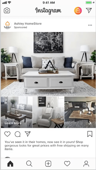 publicités de collection Instagram