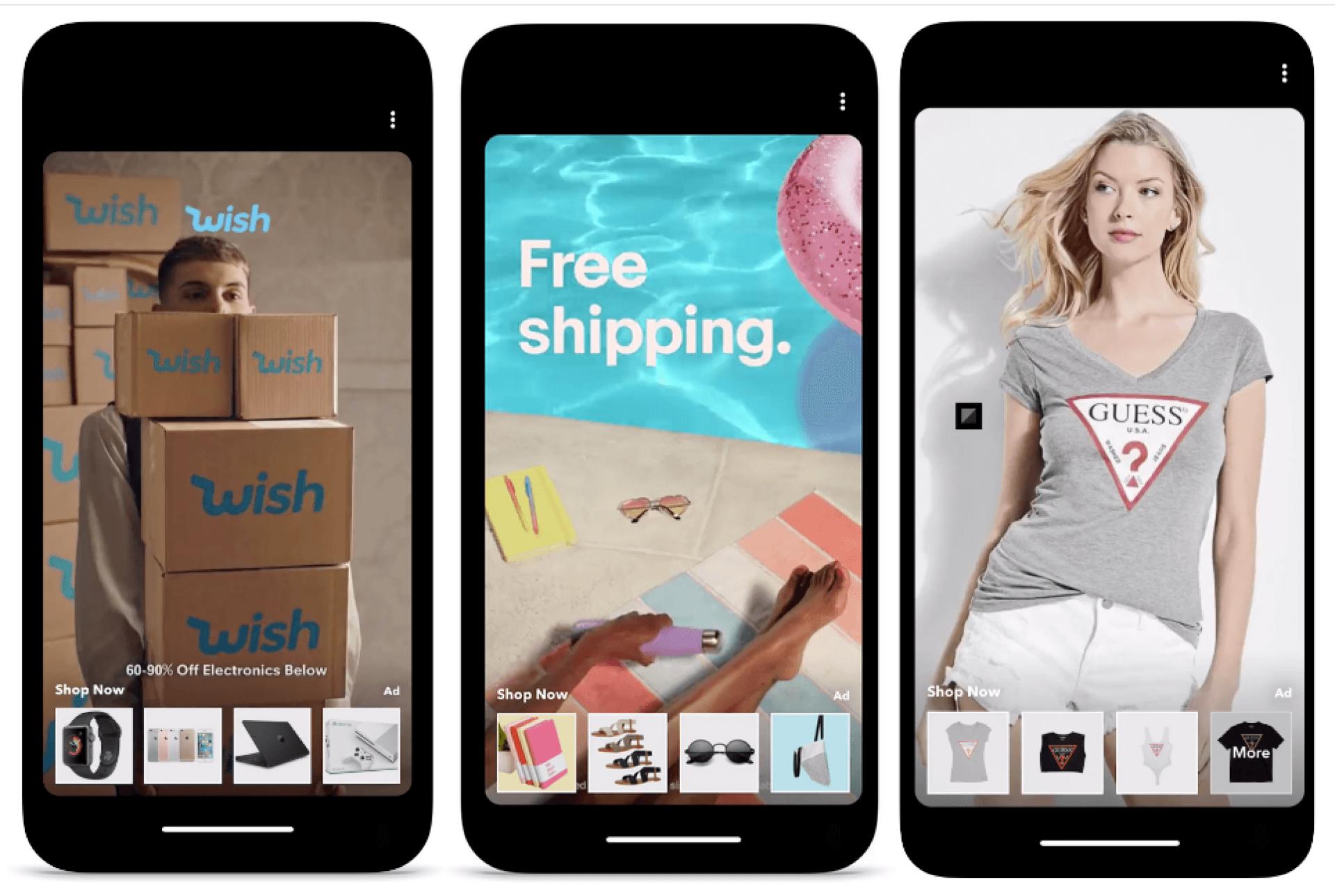 publicités de collection Snapchat