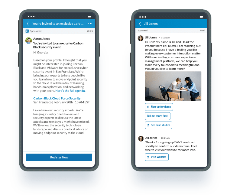 InMails sponsorisés sur LinkedIn