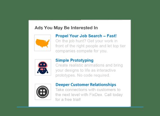 publicités textuelles LinkedIn