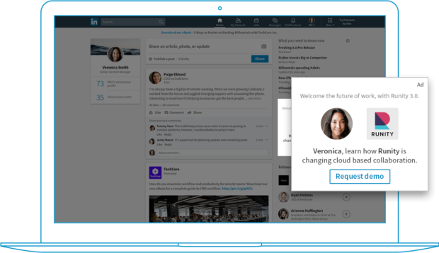 publicités dynamiques sur LinkedIn