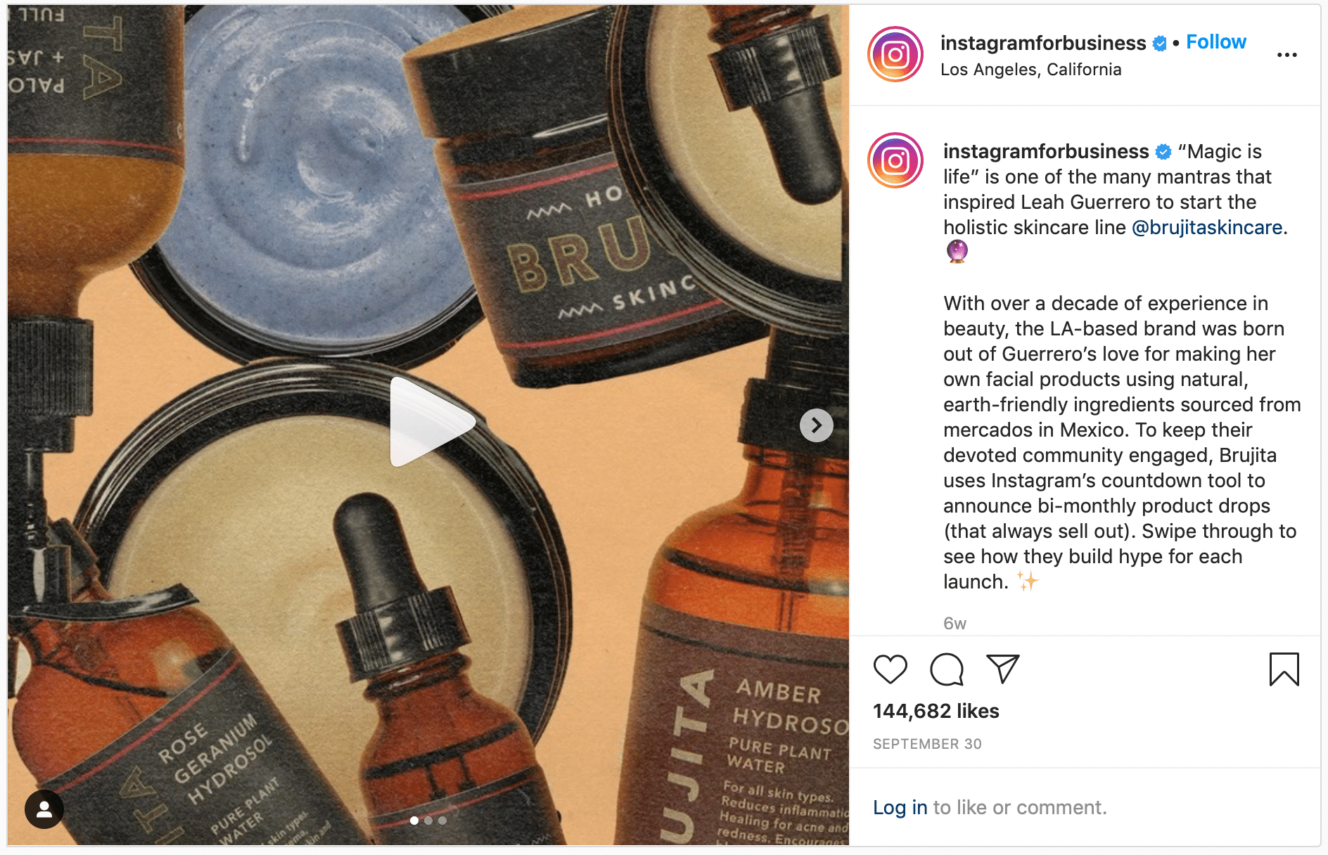 Brujita Skincare uses Countdown Stickers to build anticipation for product launch