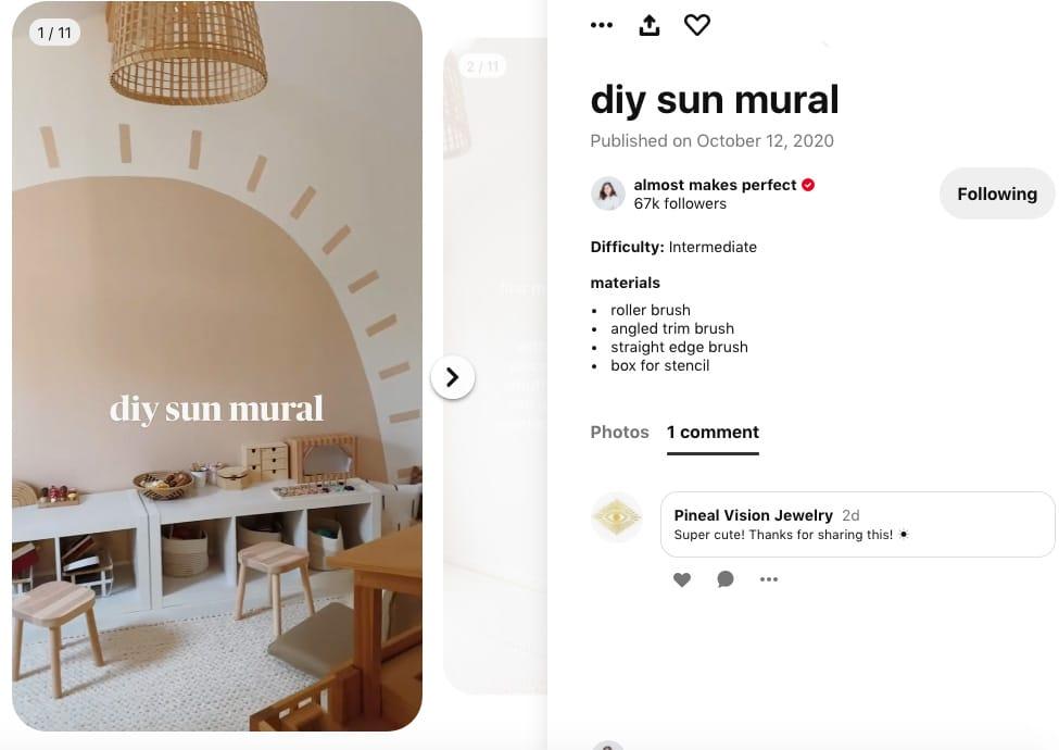Adoptez pleinement la partie sociale de Pinterest en aimant et en commentant comme Pineal Vision Jewelry