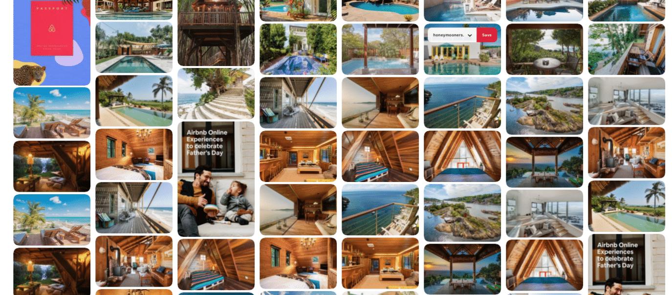 Airbnb partage des photos sur son fil d'actualité