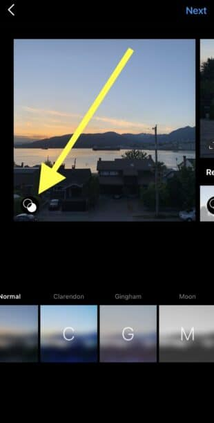 Editing individual images or videos before posting an Instagram carousel