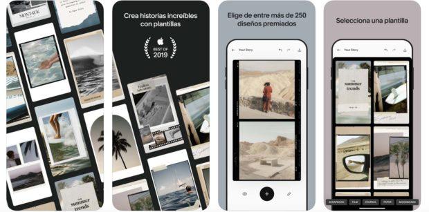 Unfold, app para Historias de Instagram