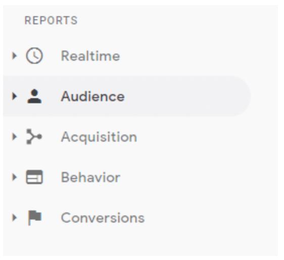 Analyze web traffic using reports