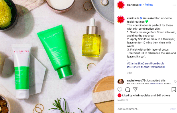 Clarins UK Instagram