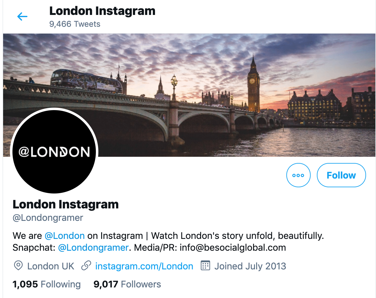 London Twitter bio-tips increase Instagram engagement