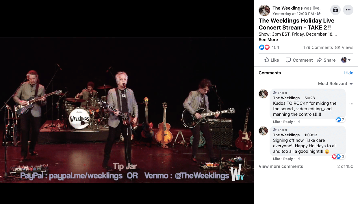 Weeklings Holiday Live Concert stream