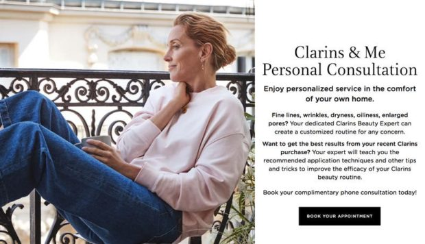 The personal advisory campaign of the beauty brand Clarins & Clarins & Me was a great success