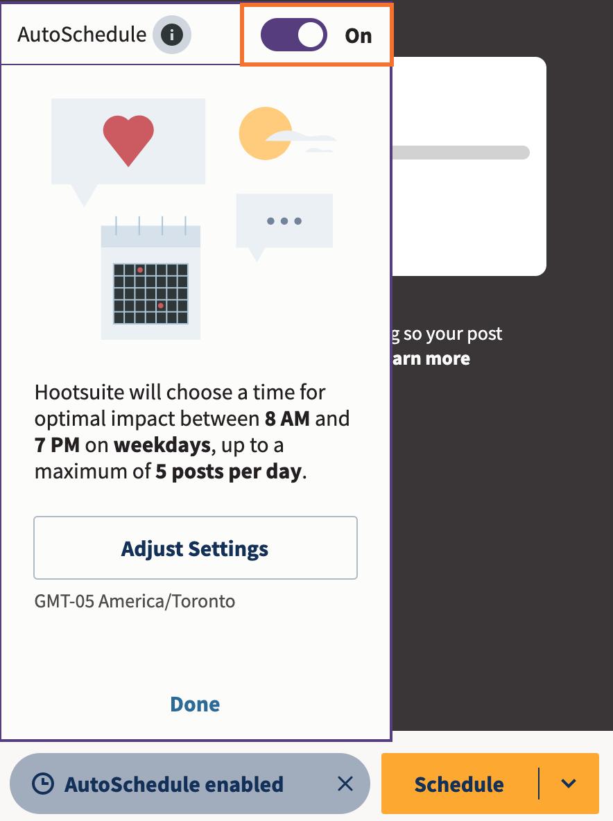 AutoSchedule posts