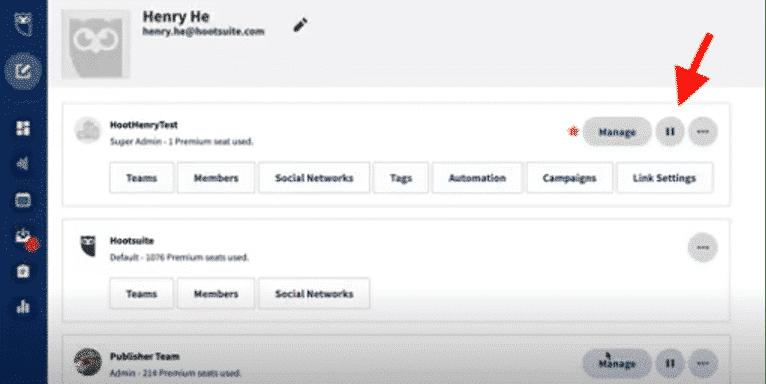 Pausar el contenido programado en Hootsuite