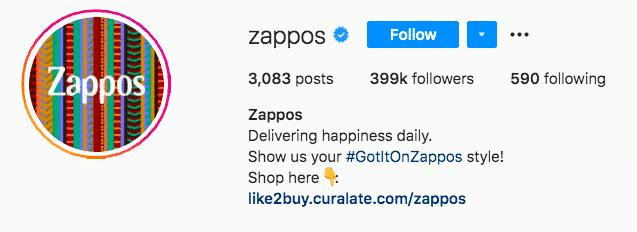 Zappos hashtag Got it On Zappos