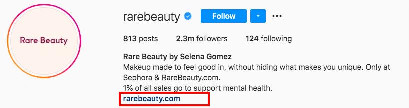 Rare Beauty URL