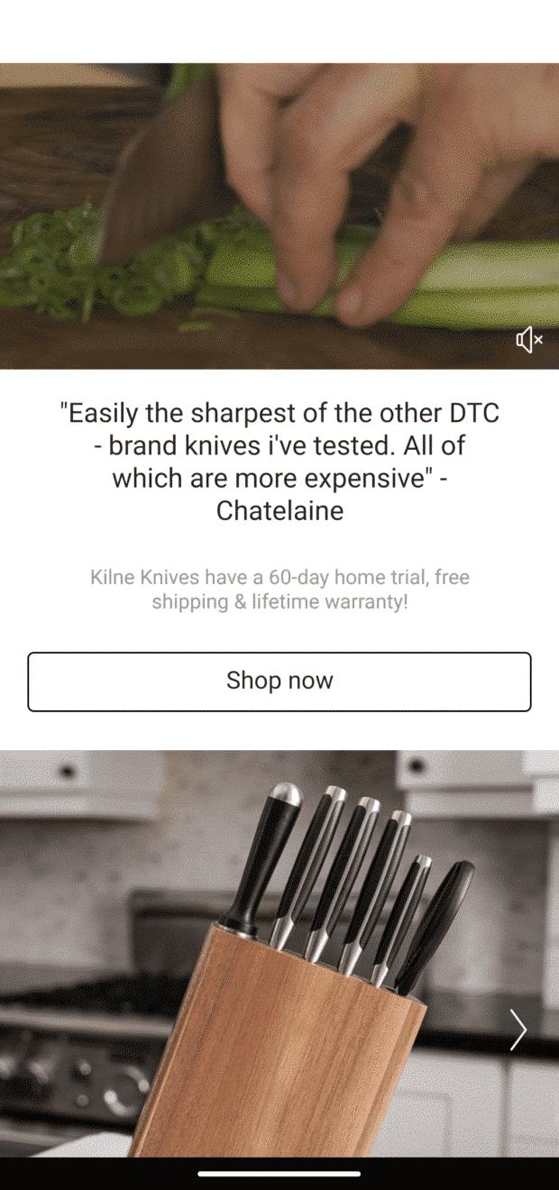 cuchillos Kilne compra ahora