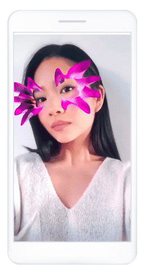 augmented reality ads cosmestics brand mask filters