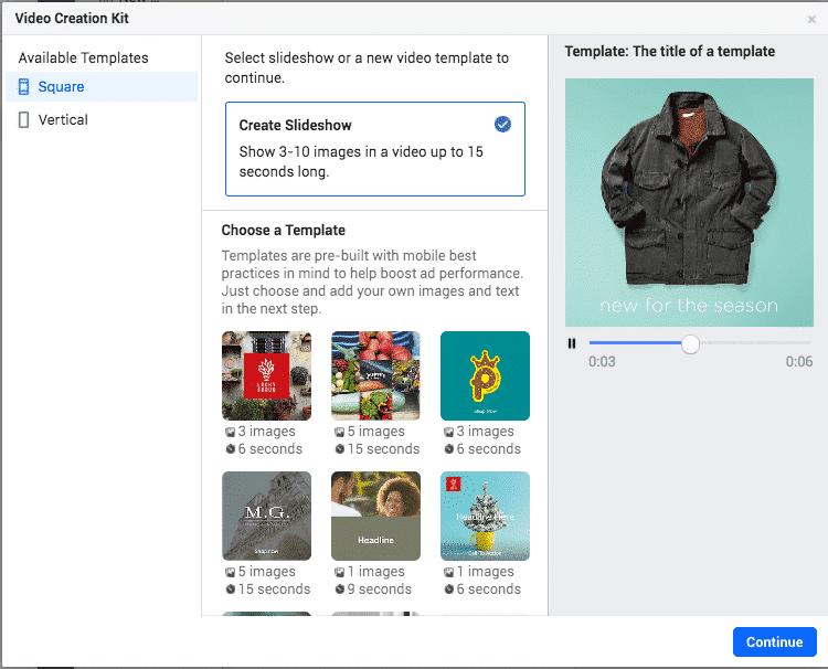 Video Creation Kit create slideshow