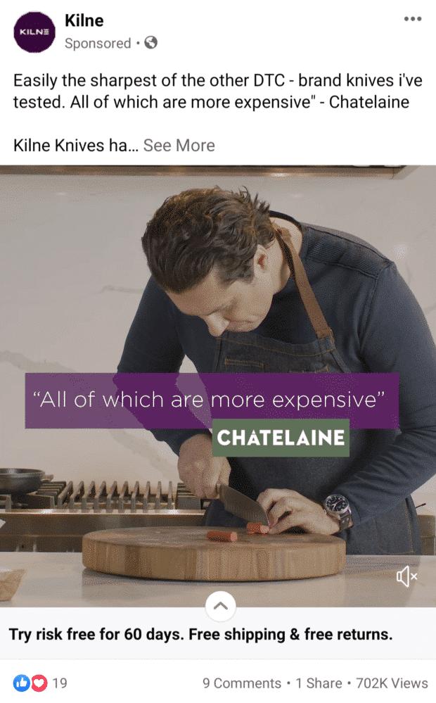 anuncios de experiencia instantánea de Kilne