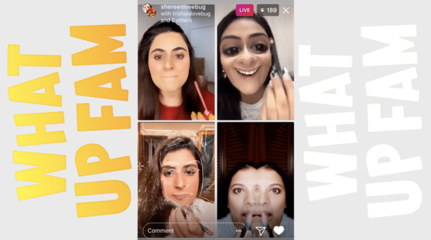 Instagram Live stream with 4 hosts (Instagram testing Live Rooms in India before international launch)