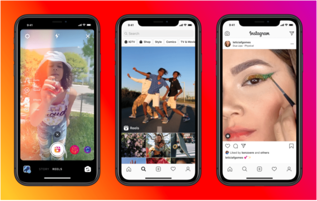 Instagram reels on 3 views: the recording view, the discovery view, and the feed view