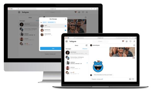 Instagram direct messaging on desktop