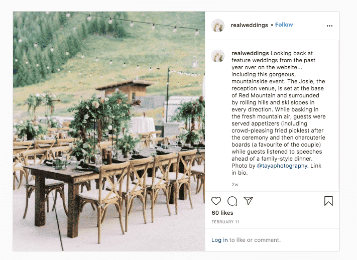 eal Weddings reception in the mountains link in bio