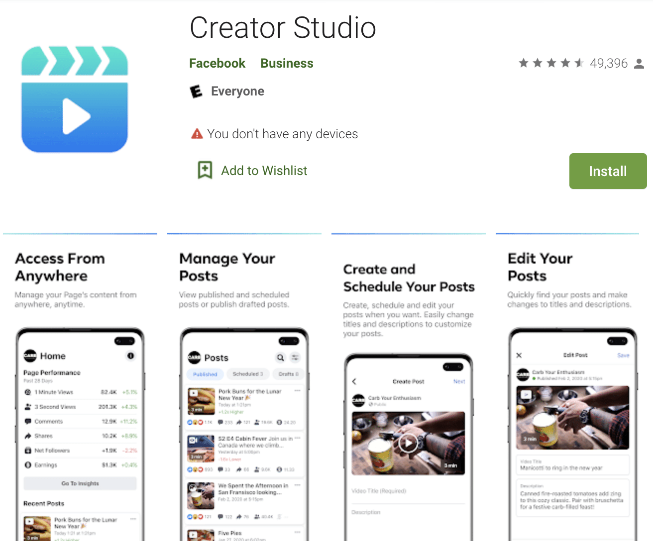 Creator Studio app iOS and Android