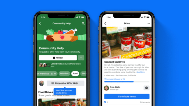 Facebook drives feature in the Community Help section of the app