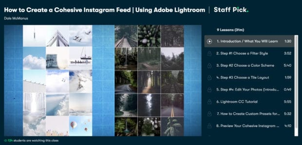 How to create a cohesive Instagram feed using Adobe Lightroom by Skillshare
