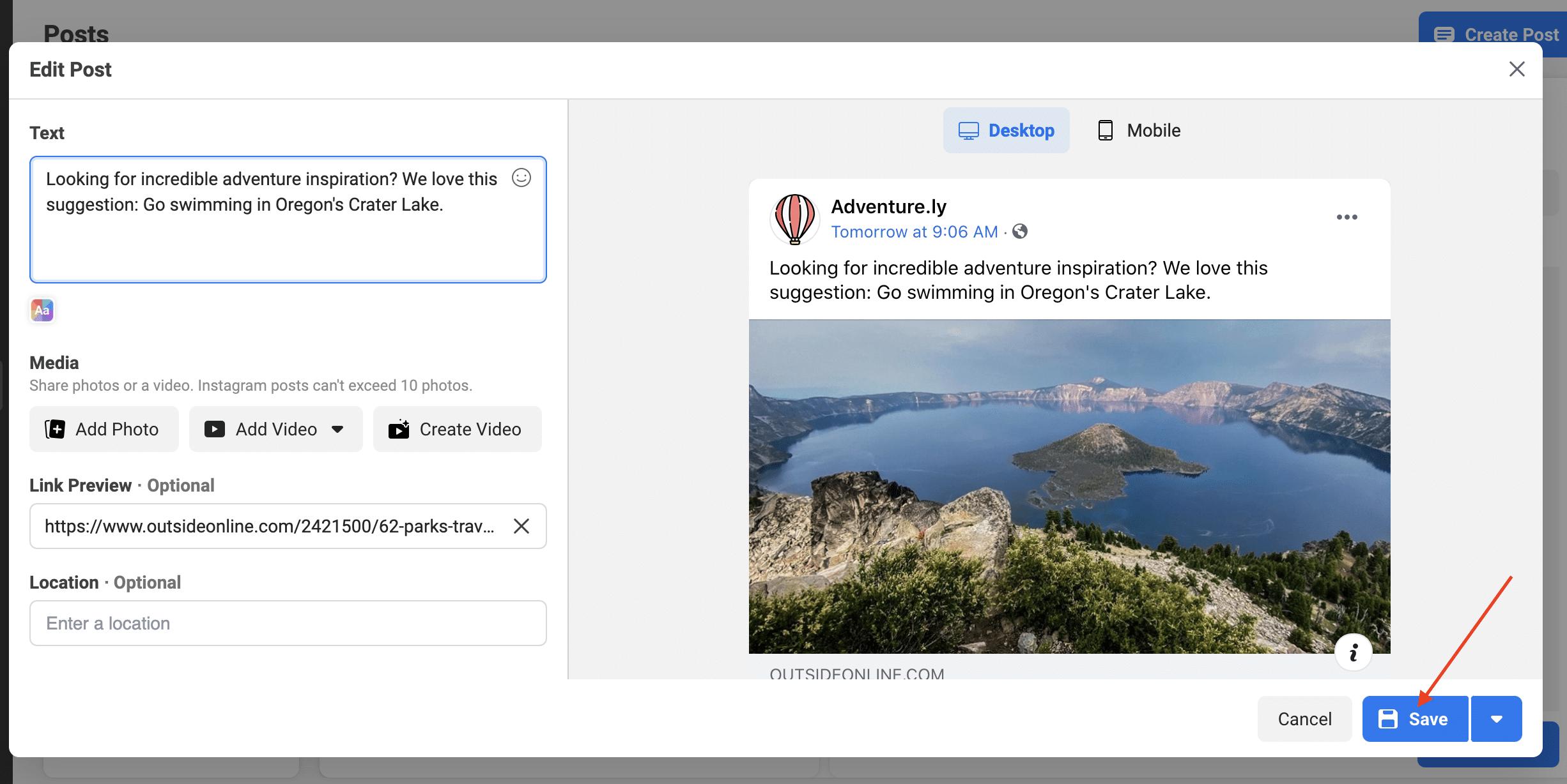 make and save edits