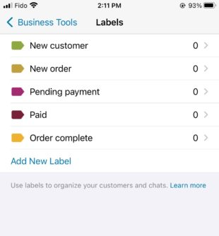 Business-Tools Labels