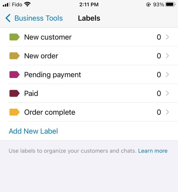business tools labels