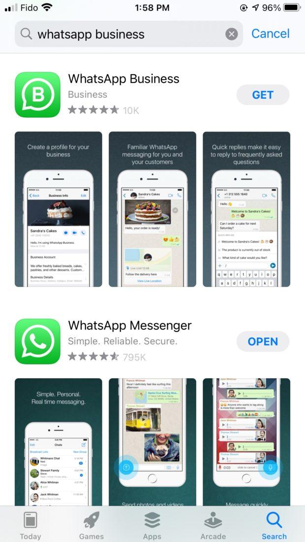 Télécharger l'application WhatsApp business