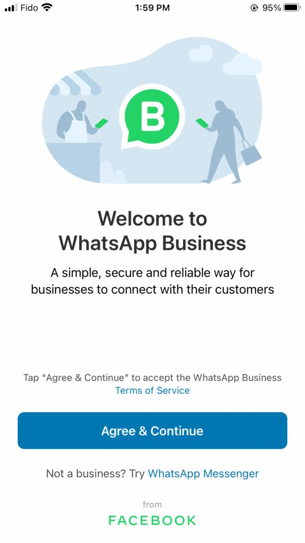 Conditions générales de WhatsApp business