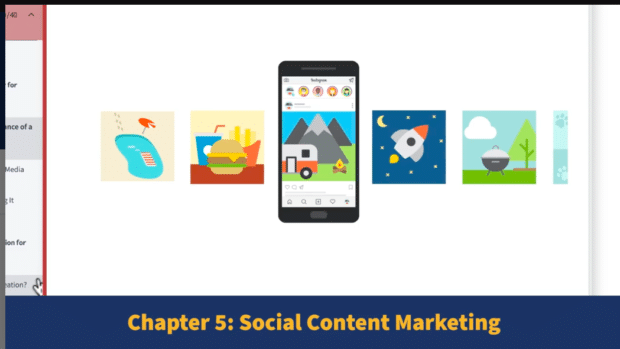 Preview of the Hootsuite Social Media Marketing course