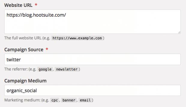 Der Google Analytics Campaign URL Builder