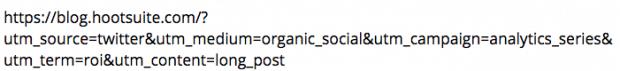 eine URL mit UTM-Parametern
