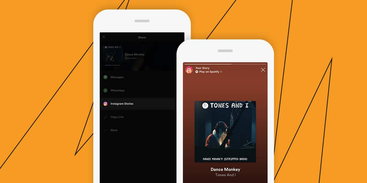 Social media for big companies example: Spotify Story Tones and I